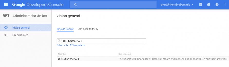 Buscador de APIs de Google